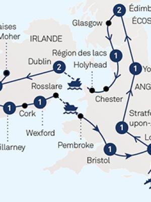 Carte Angleterre Irlande Ecosse.Angleterre Ecosse Irlande Tours Chanteclerc