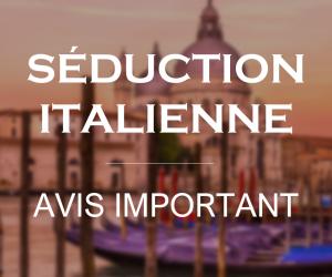 Avis : Séduction italienne 25 septembre 2019