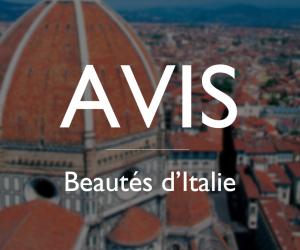 Avis : Beautés d'Italie 16 septembre 2019