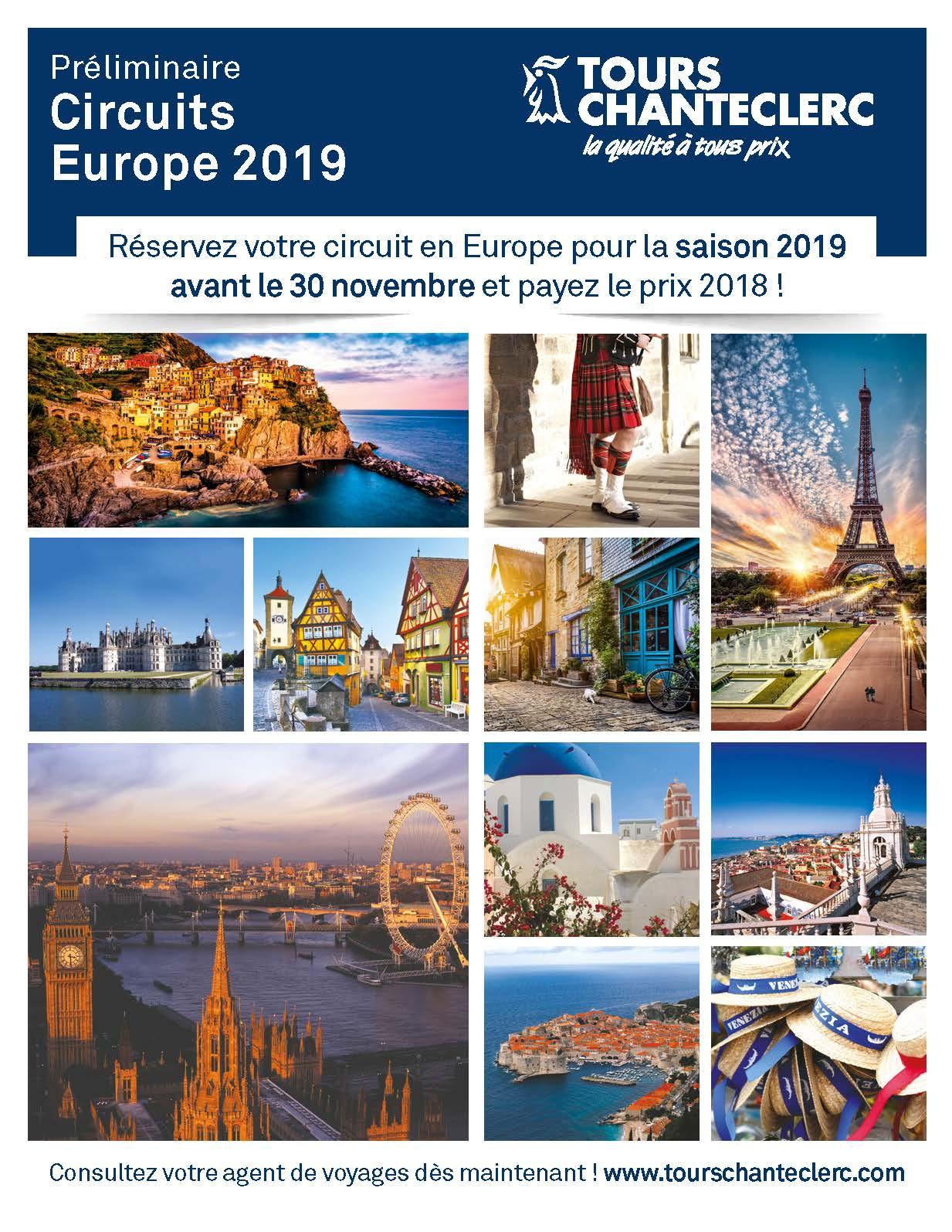 Préliminaire Circuits Europe 2019